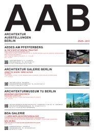 ARCHITEKTUR AUSSTELLUNGEN BERLIN ARCHITEKTUR ...