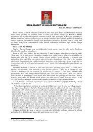 MAN, BADET VE AHLAK BÜTÜNLÜĞÜ - Fırat Üniversitesi