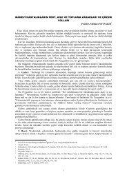 Manevi Hastalıkların Fert, Aile ve Topluma ... - Fırat Üniversitesi