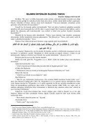 islamın üstünlük ölçüsü: takva - Fırat Üniversitesi