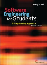 Software Engineering for Students A Programming Approach