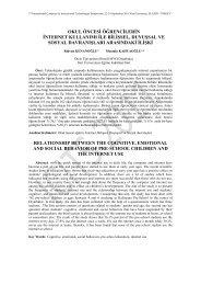 OKUL ÖNCESİ ÖĞRENCİLERİN - Fırat Üniversitesi