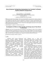 Akım Ortamına Yerleştirilen Kanatçıkların Isı ... - Fırat Üniversitesi