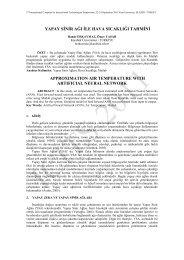 Yapay Sinir Ağı İle Hava Sıcaklığı Tahmini - Fırat Üniversitesi