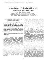 Asfalt Betonun Fiziksel Özelliklerinde Darbeli ... - Fırat Üniversitesi