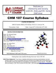 PHY 111 – General Physics I - glendale community college
