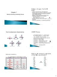 Molecular Geometry and Bonding Theories Valence-Shell Electron ...