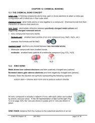 Chapter 12. Chemical Bonding
