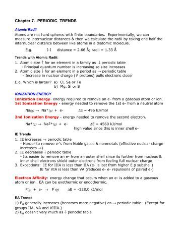 Worksheets Periodic Trends Answers periodic trends 436 only trends
