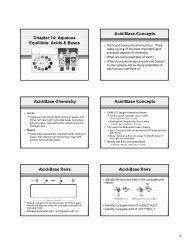 Acids & Bases Acid-Base Concepts Acid-Base Chemistry Acid-Base ...