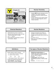 Chapter 22 Nuclear Chemistry Chemical Reactions Nuclear ...