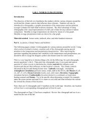 LAB J - WORLD CLIMATE ZONES Introduction The objective of this ...