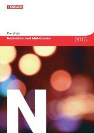 Preisliste Neuheiten und Mutationen - Tobler Haustechnik AG