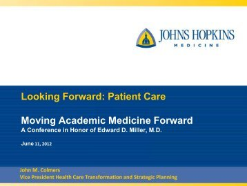 John M. Colmers - Johns Hopkins University
