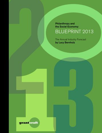 Philanthropy and the Social Economy: Blueprint 2013