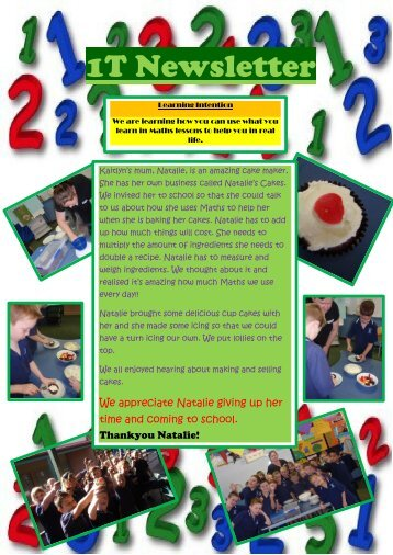 Our Term 2 class newsletter. - Mildura West Primary School
