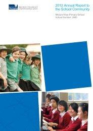 2012 Annual Report to the School Community - Mildura West ...
