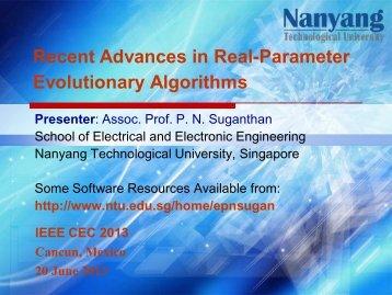 CEC 2013 - Nanyang Technological University