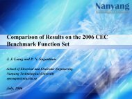 Comparison of Results - Nanyang Technological University