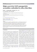 High-coercivity FePt nanoparticle assemblies embedded in silica ... - Page 2