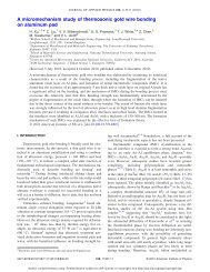 A micromechanism study of thermosonic gold wire bonding on ...