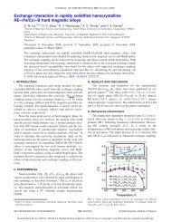 Fe/Co…–B hard magnetic alloys - Nanyang Technological University