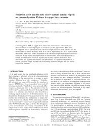 Reservoir effect and the role of low current density regions on ...