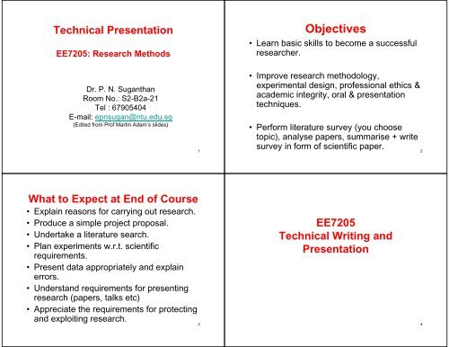 EE7205-Tech-Pres - Nanyang Technological University