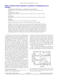Effect of electron beam treatment on adhesion of Ta/polymeric low-k ...