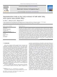 Nanoindentation study on the creep resistance of SnBi solder alloy ...