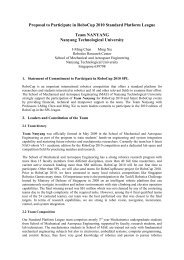 Proposal to Participate in RoboCup 2010 Standard Platform League ...