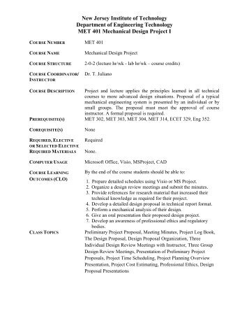 Syllabus - Njit - New Jersey Institute of Technology