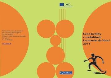 Cena kvality v mobilitách Leonardo da Vinci 2011