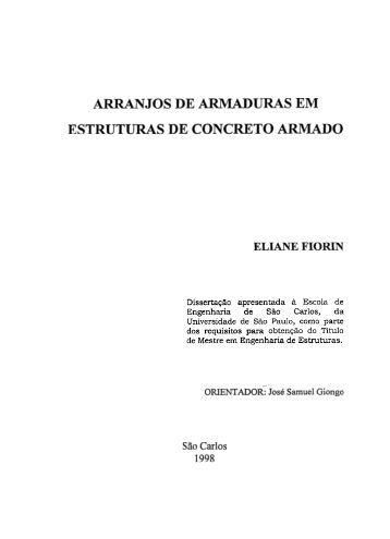ESTRUTURAS DE CONCRETO ARMADO - Sistemas SET - USP