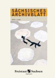 08 SÄCHSISCHES ARCHIVBLATT - Archivwesen - Freistaat Sachsen