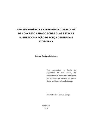 análise numérica e experimental de blocos de concreto armado ...