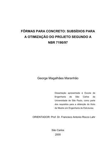 fôrmas para concreto - Sistemas SET - USP