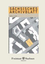 06 SÄCHSISCHES ARCHIVBLATT - Archivwesen - Freistaat Sachsen