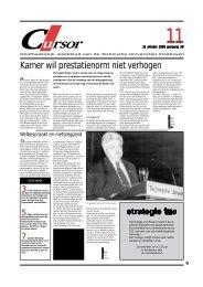 Kamer wil prestatienorm niet verhogen - Technische Universiteit ...