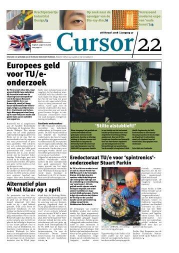 Europees geld voor TU/e- onderzoek - Technische Universiteit ...