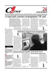 U-raad stelt unaniem strategieplan TUE vast - Technische ...
