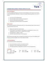 INFORMATIEDOCUMENT FITNESS CURSUS 2012-2013