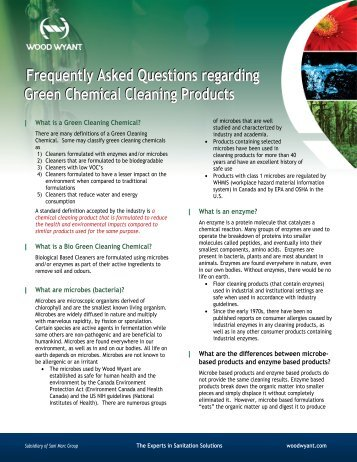 FAQ Green Products - Wood Wyant