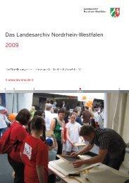 Jahresbericht 2009 - Archive in Nordrhein-Westfalen