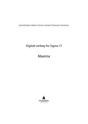Maxima - Gyldendal Norsk Forlag
