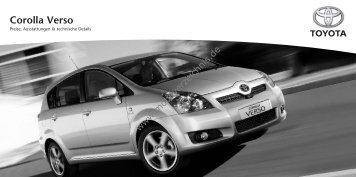 Preisliste Toyota Corolla Verso, 8/2008 - mobilverzeichnis.de