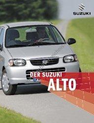 Prospekt Suzuki Alto, 3/2005 - mobilverzeichnis.de