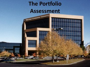 The Portfolio Assessment