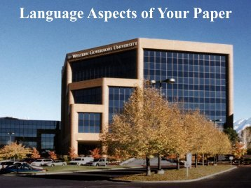 The Language aspects of the Technical Writing, Portfolio and ...