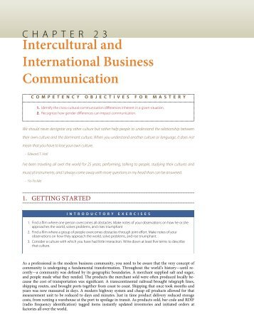 intercultural skills for international business and international relations Intercultural skills for international business & international relations paul verluyten • boek • paperback samenvatting  you work and live in our global village , so you are bound to have multiple contacts with people whose cultural background is different from your own.